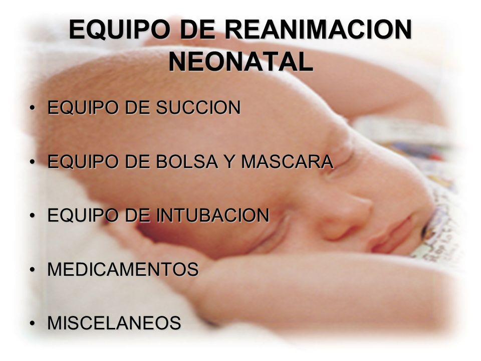 EQUIPO DE REANIMACION NEONATAL