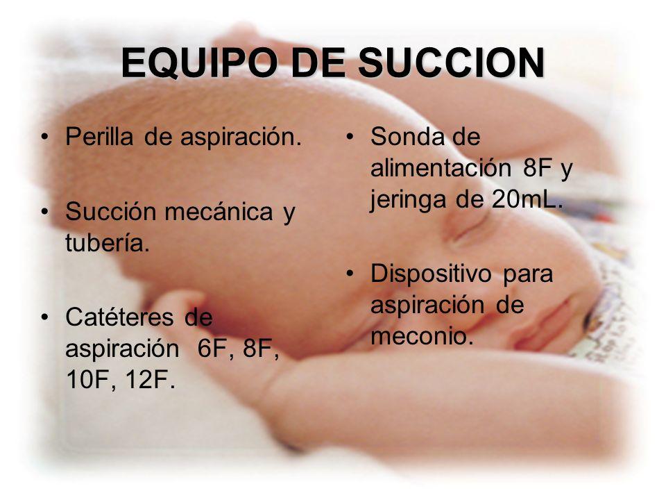 EQUIPO DE SUCCION Perilla de aspiración. Succión mecánica y tubería.