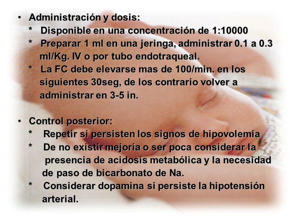 Administración y dosis: