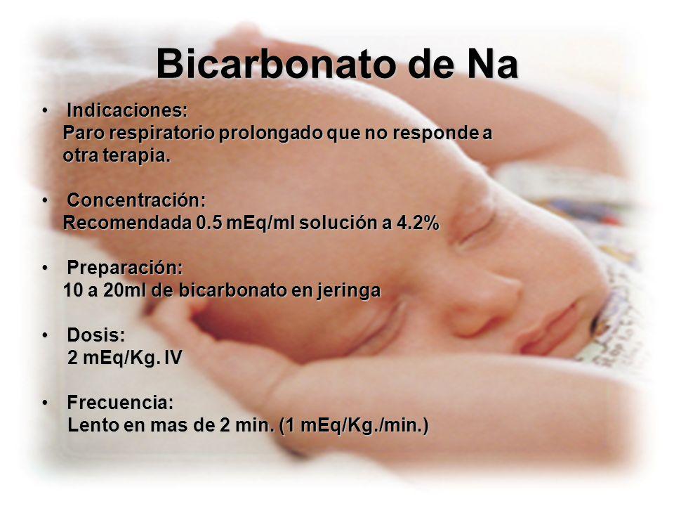 Bicarbonato de Na Indicaciones: