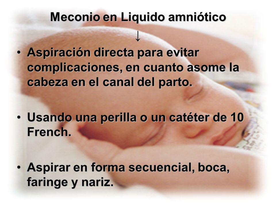 Meconio en Liquido amniótico