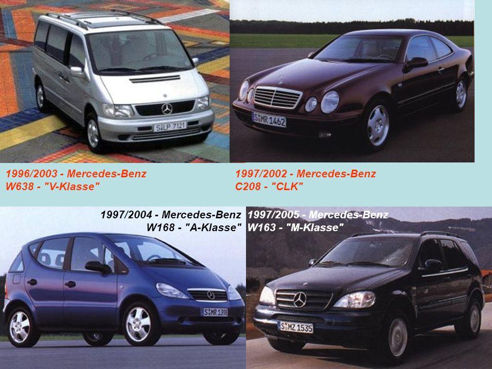 1996/2003 - Mercedes-Benz W638 - V-Klasse 1997/2002 - Mercedes-Benz. C208 - CLK 1997/2004 - Mercedes-Benz.