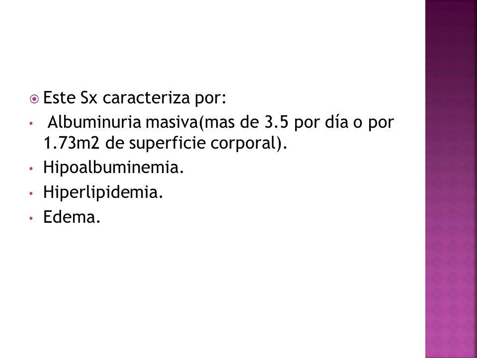 Este Sx caracteriza por: