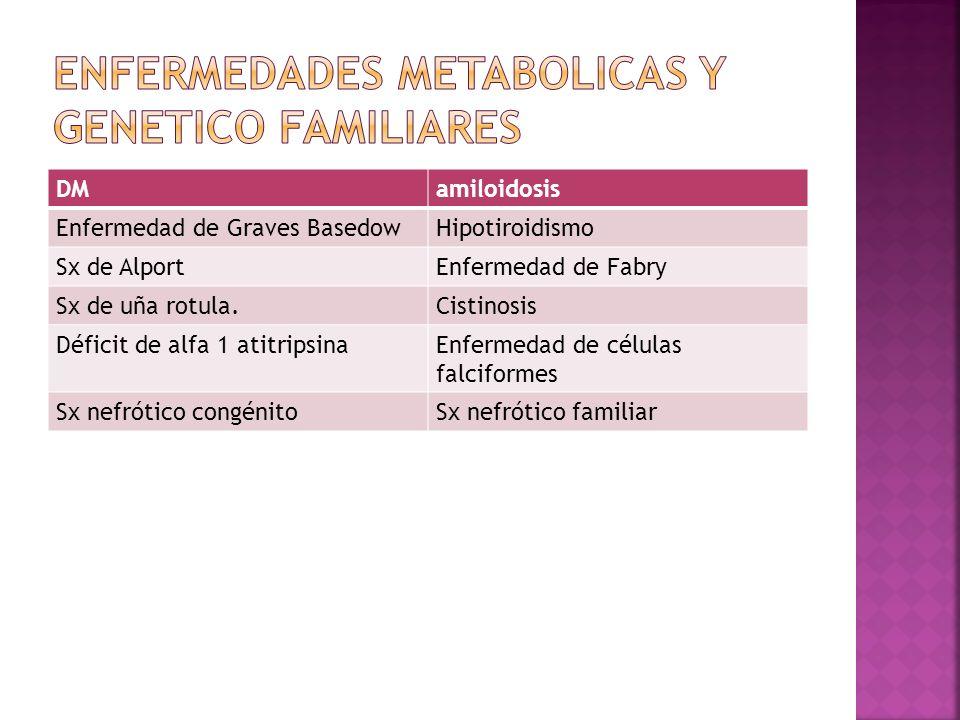 ENFERMEDADES METABOLICAS Y GENETICO FAMILIARES