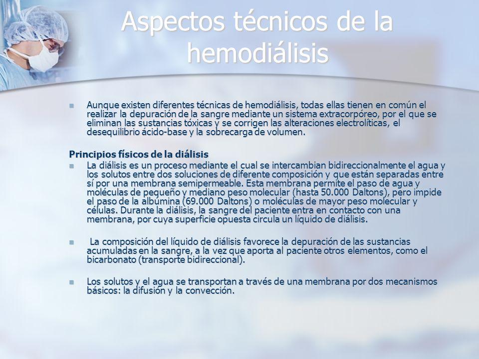 Aspectos técnicos de la hemodiálisis