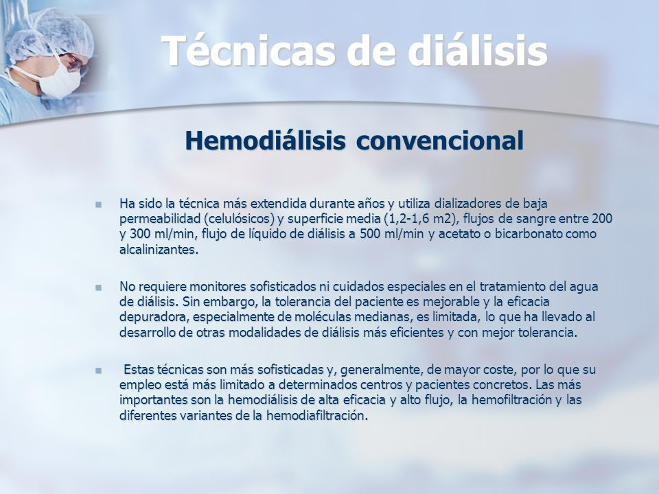 Hemodiálisis convencional