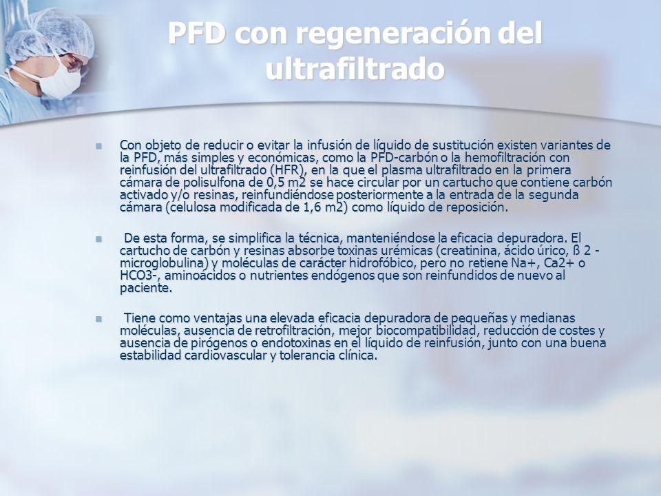 PFD con regeneración del ultrafiltrado
