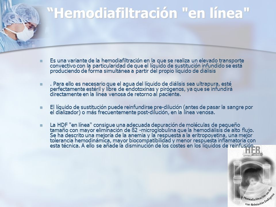 Hemodiafiltración en línea