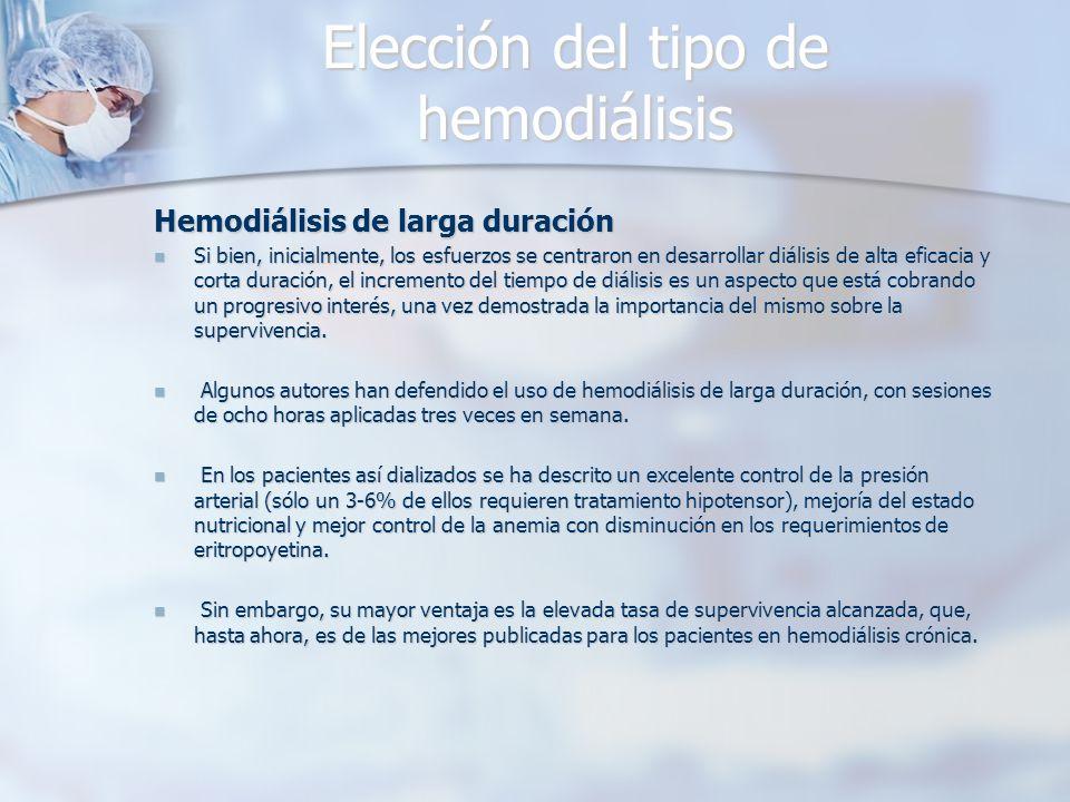 Elección del tipo de hemodiálisis