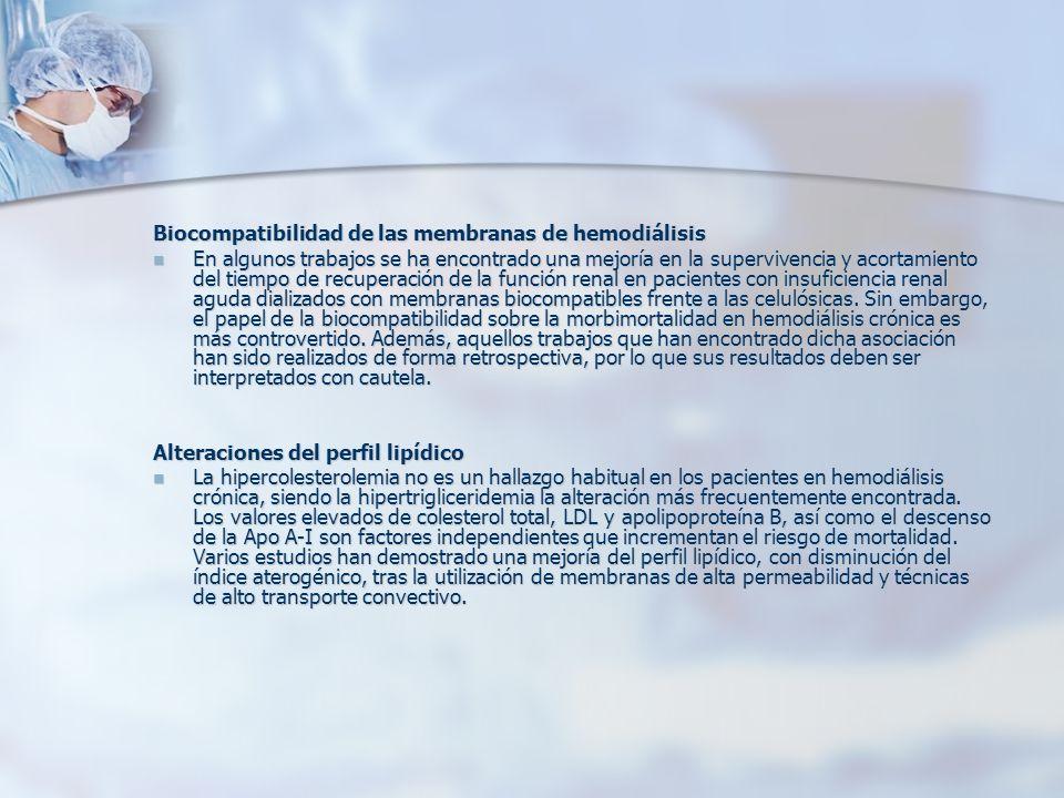 Biocompatibilidad de las membranas de hemodiálisis