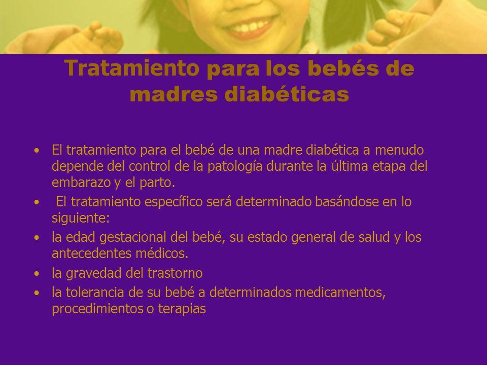 Tratamiento para los bebés de madres diabéticas