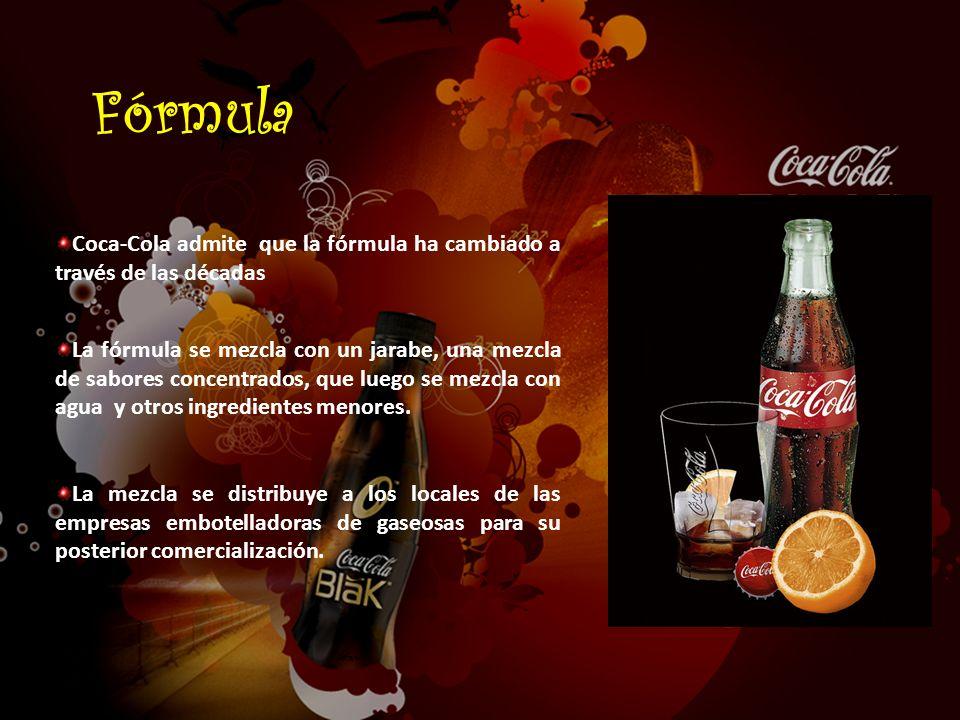 Fórmula Coca-Cola admite que la fórmula ha cambiado a través de las décadas.