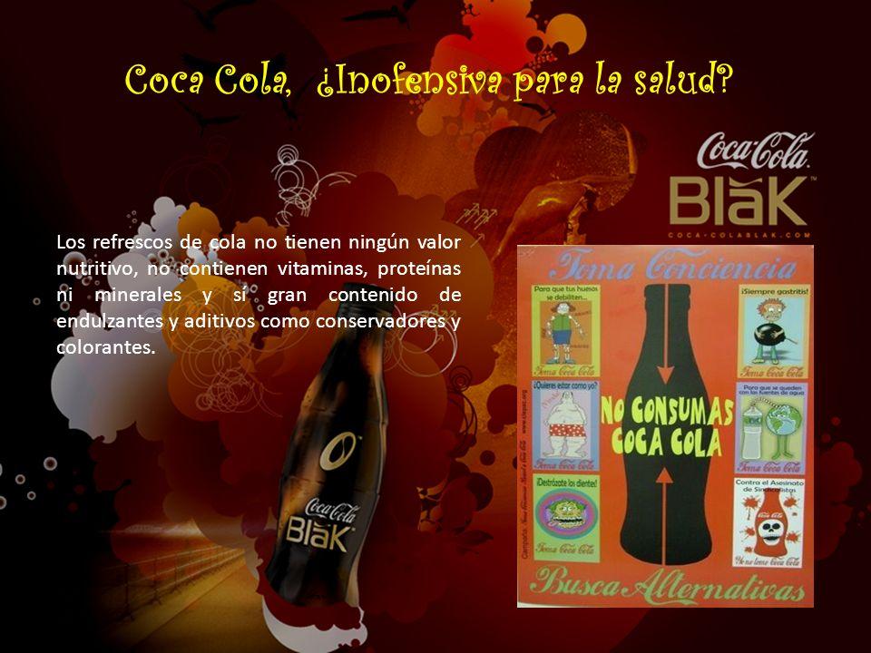 Coca Cola, ¿Inofensiva para la salud