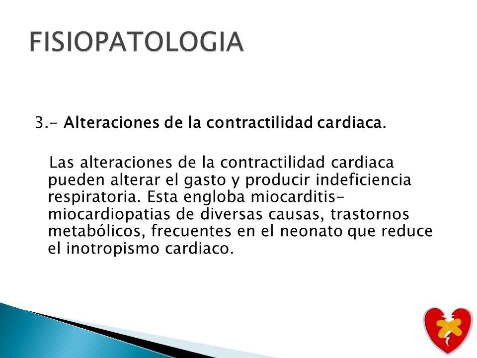 3. - Alteraciones de la contractilidad cardiaca