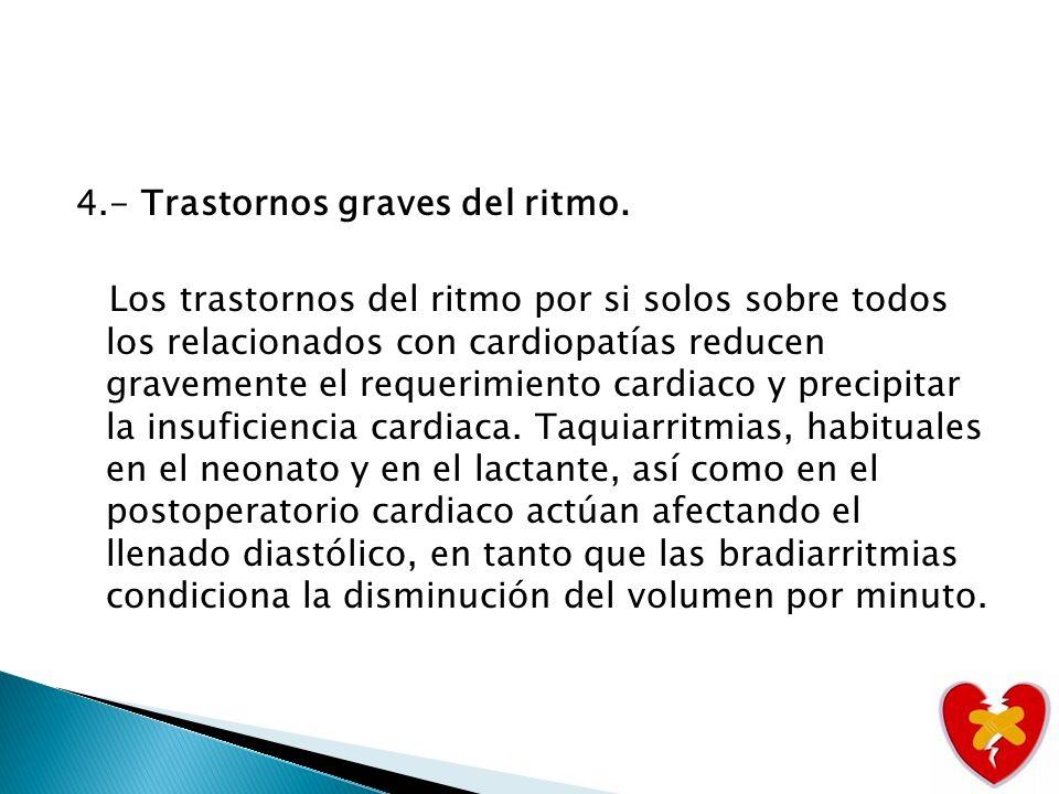 4. - Trastornos graves del ritmo