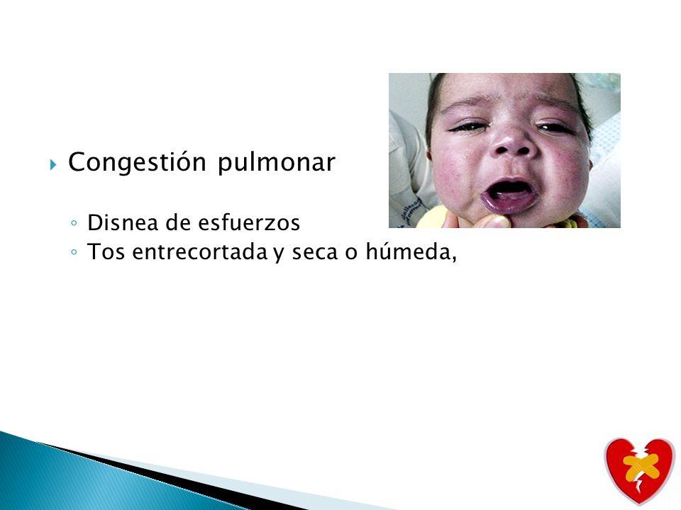 Congestión pulmonar Disnea de esfuerzos