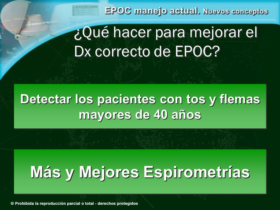 ¿Qué hacer para mejorar el Dx correcto de EPOC