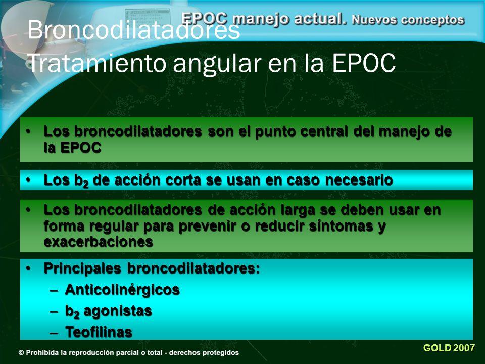 Broncodilatadores Tratamiento angular en la EPOC