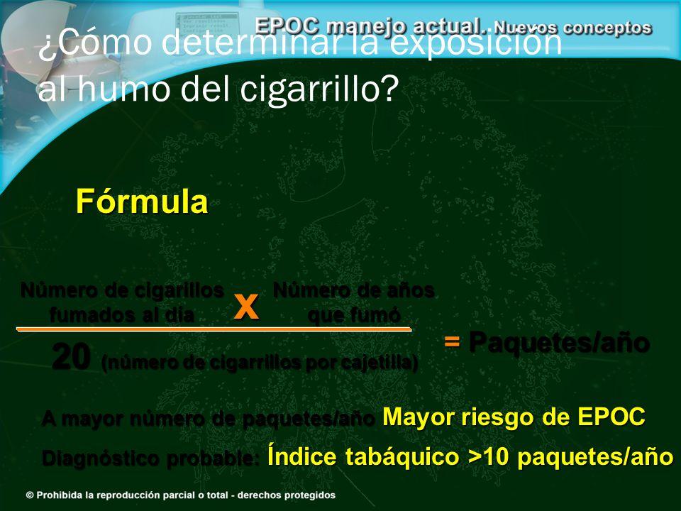 ¿Cómo determinar la exposición al humo del cigarrillo