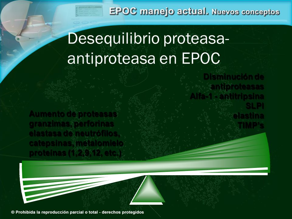 Desequilibrio proteasa-antiproteasa en EPOC