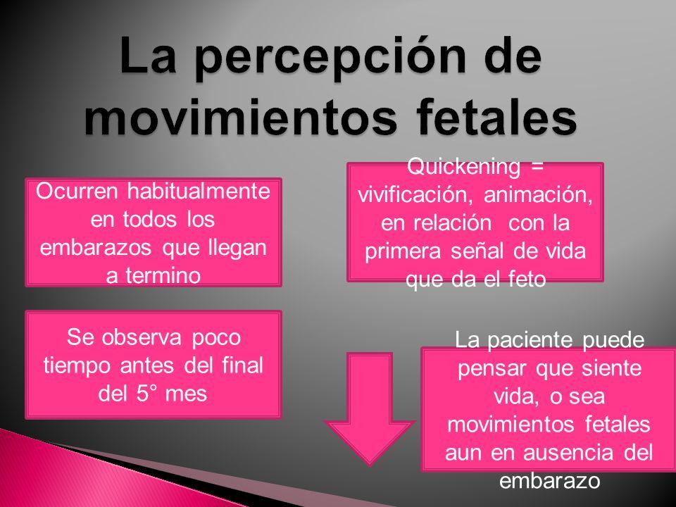 La percepción de movimientos fetales