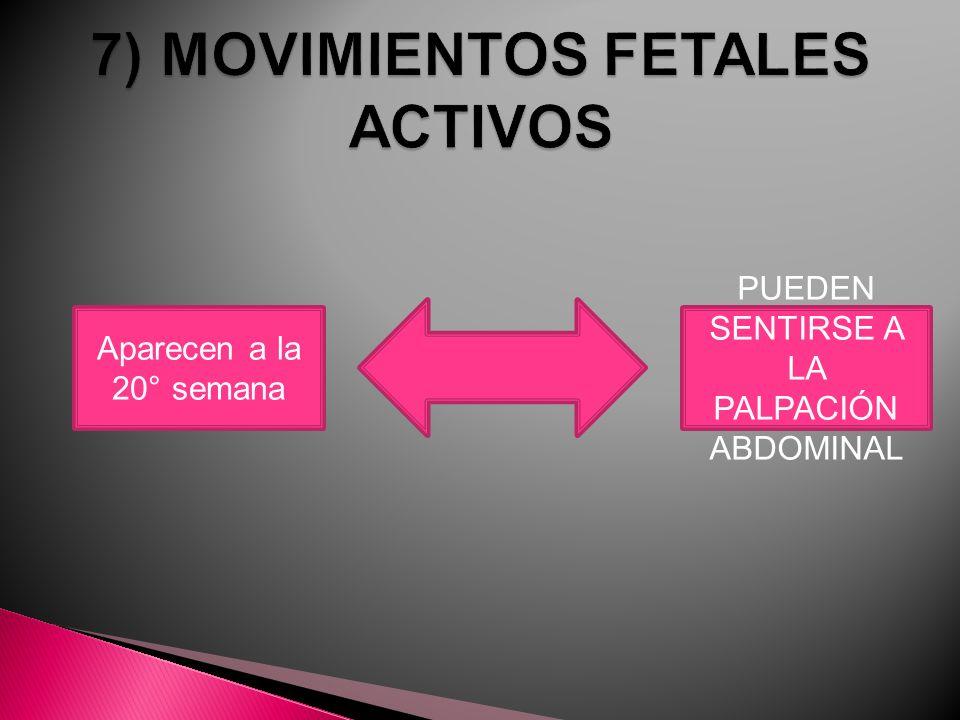 7) MOVIMIENTOS FETALES ACTIVOS