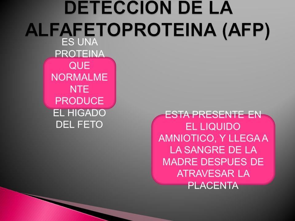 DETECCION DE LA ALFAFETOPROTEINA (AFP)