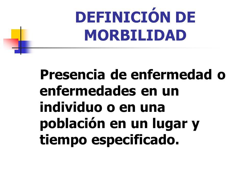 DEFINICIÓN DE MORBILIDAD