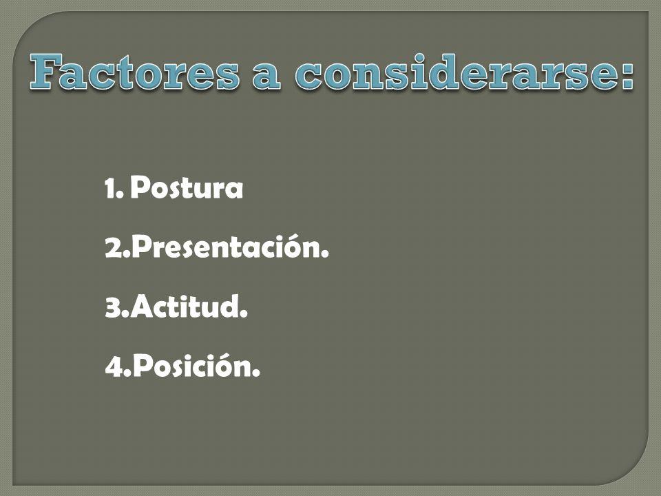 Factores a considerarse: