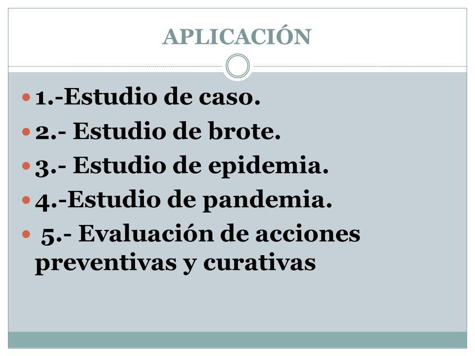 5.- Evaluación de acciones preventivas y curativas