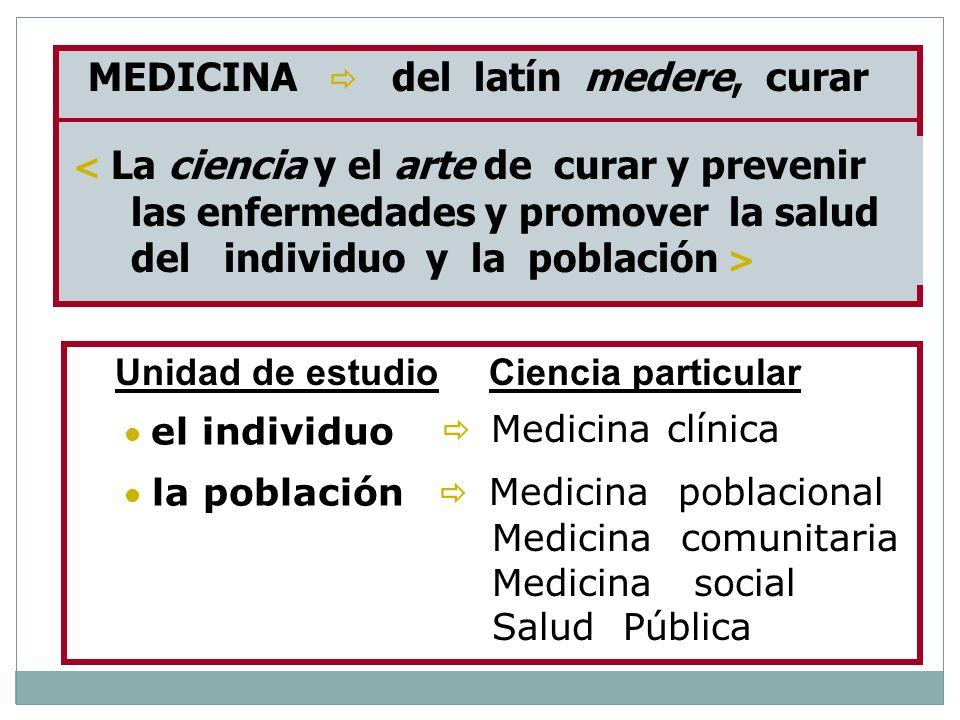 las enfermedades y promover la salud del individuo y la población >