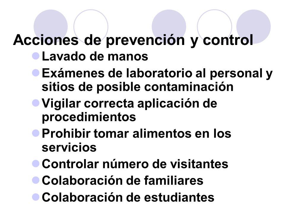 Acciones de prevención y control