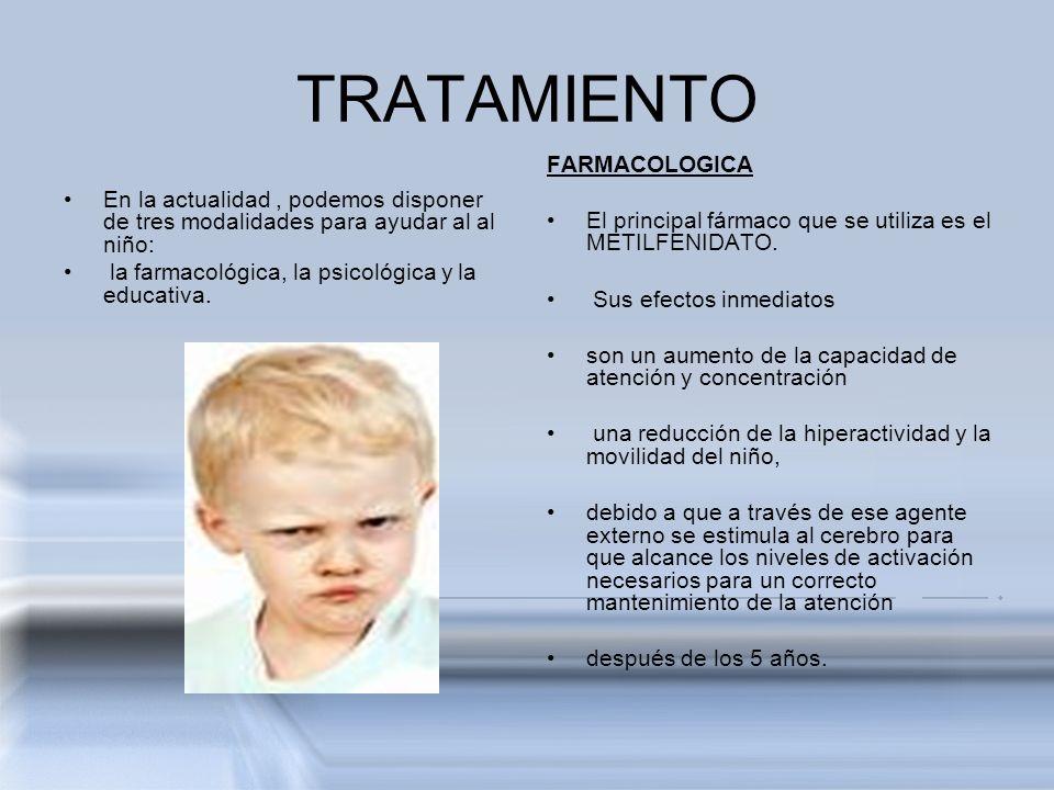 TRATAMIENTO FARMACOLOGICA