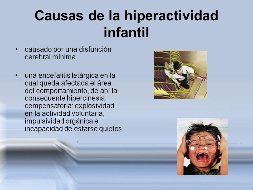 Causas de la hiperactividad infantil