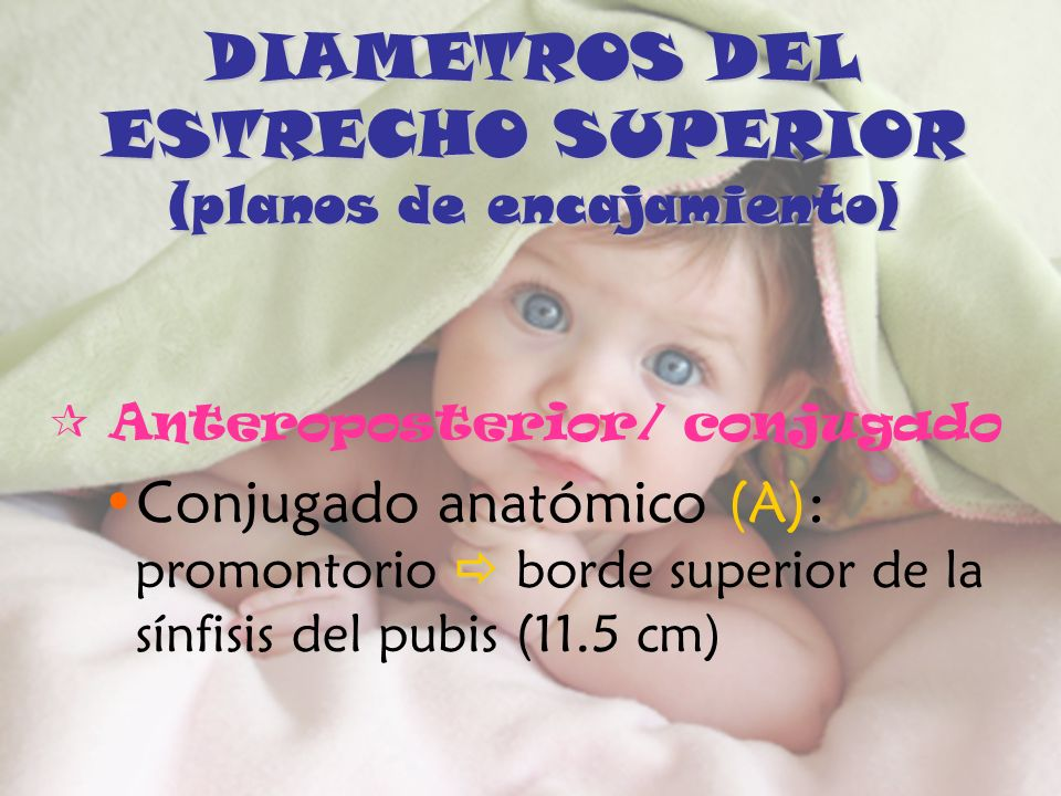 DIAMETROS DEL ESTRECHO SUPERIOR (planos de encajamiento)