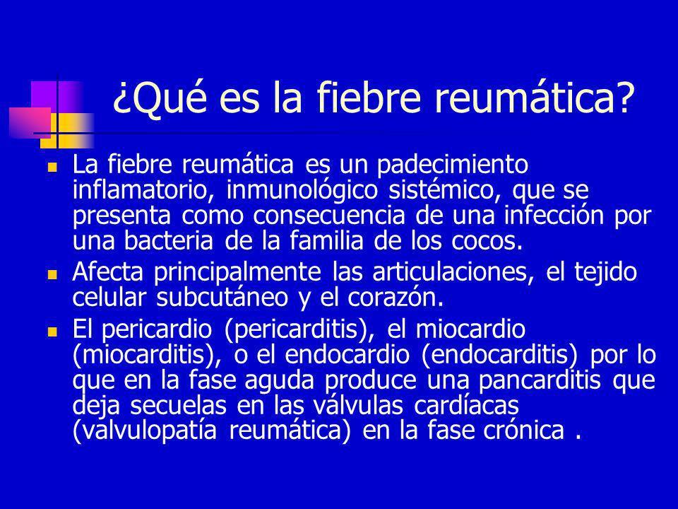 ¿Qué es la fiebre reumática