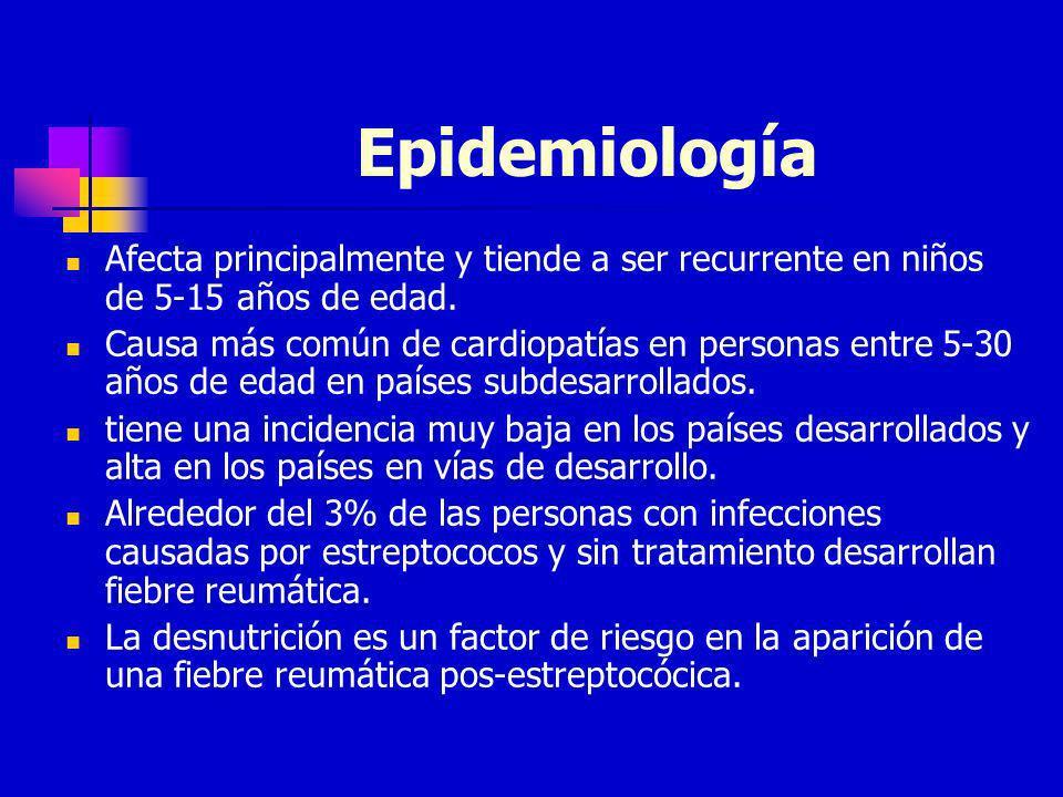 EpidemiologíaAfecta principalmente y tiende a ser recurrente en niños de 5-15 años de edad.