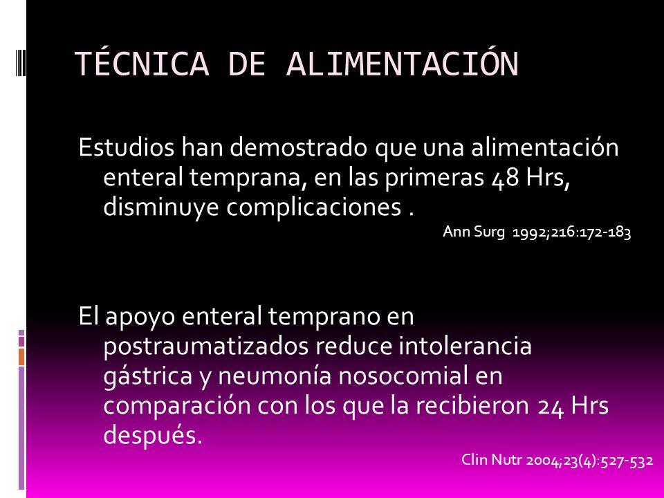 TÉCNICA DE ALIMENTACIÓN