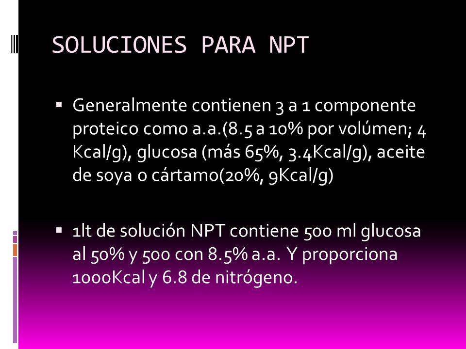 SOLUCIONES PARA NPT