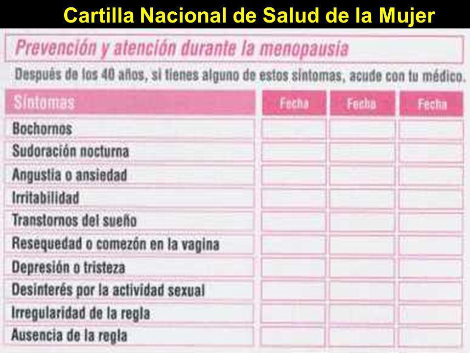 Cartilla Nacional de Salud de la Mujer