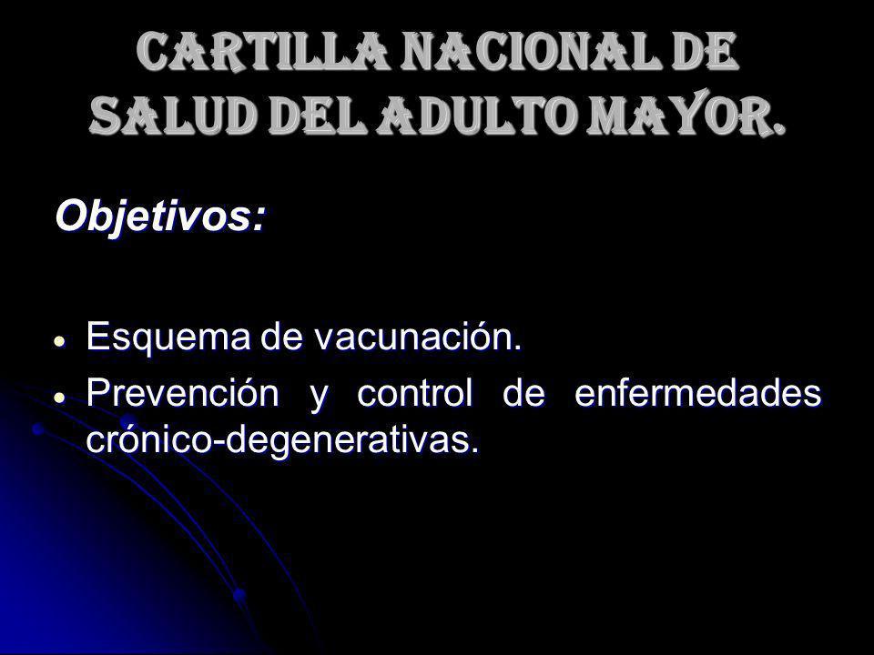 Cartilla Nacional de Salud del Adulto Mayor.