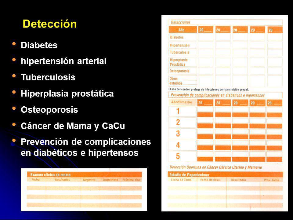 Detección Diabetes hipertensión arterial Tuberculosis