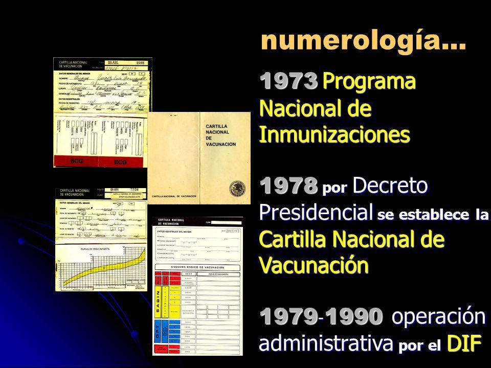 1973 Programa Nacional de Inmunizaciones