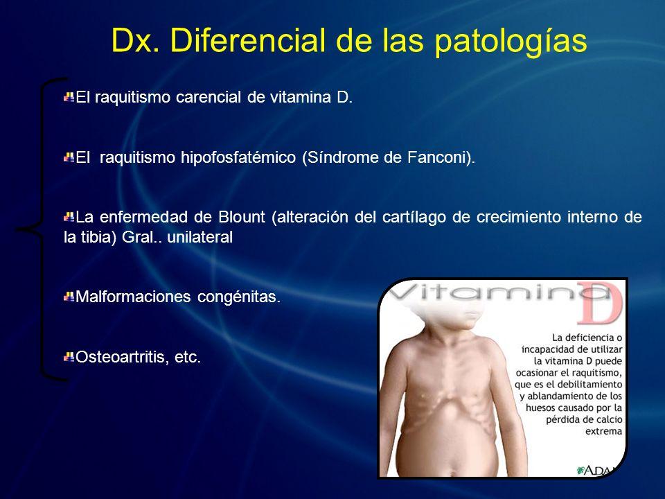 Dx. Diferencial de las patologías