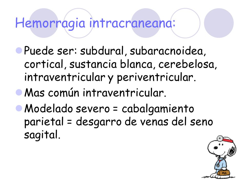 Hemorragia intracraneana:
