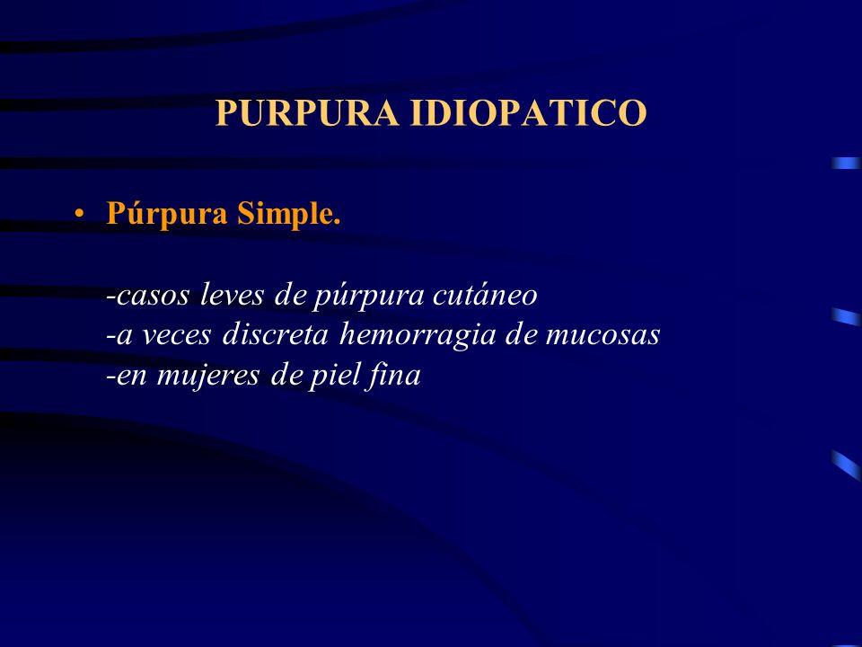 PURPURA IDIOPATICO
