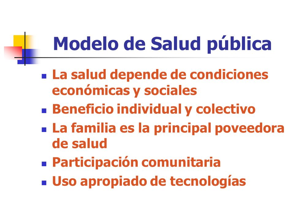 Modelo de Salud pública