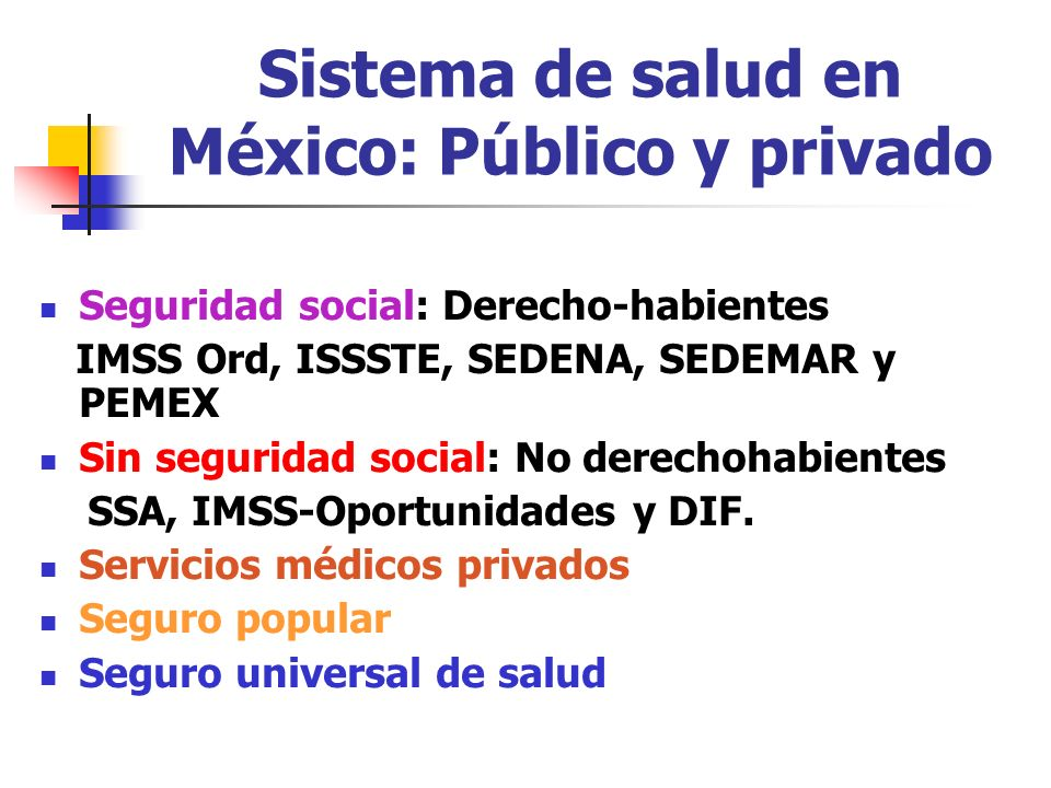 Sistema de salud en México: Público y privado