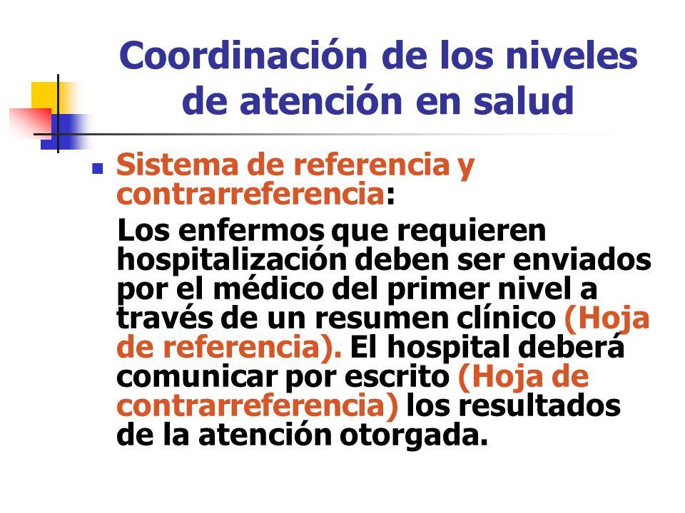Coordinación de los niveles de atención en salud