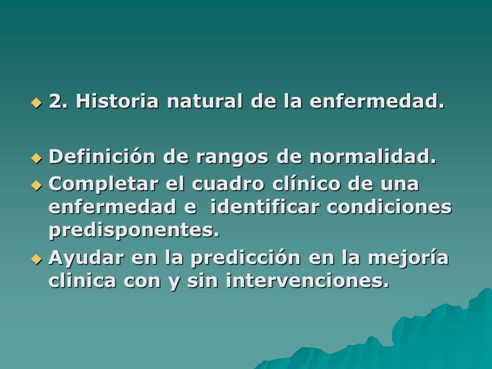 2. Historia natural de la enfermedad.